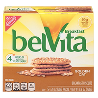 BelVita Breakfast Biscuits, Golden Oat, 5 Ct - Water Butlers
