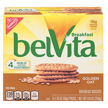 BelVita Breakfast Biscuits, Golden Oat, 5 Ct