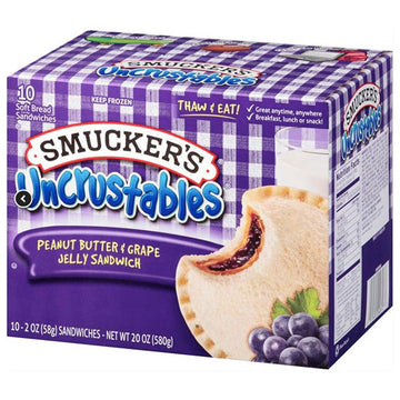 Smucker's Peanut Butter & Grape Jelly Uncrustables Sandwich, 10 Ct