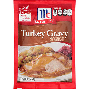 McCormick Turkey Gravy Seasoning Mix Packet, 0.87 Oz