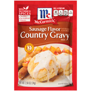 McCormick Sausage Flavor Country Gravy Mix, 2.64 oz