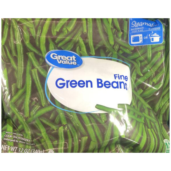 Great Value Fine Green Beans, 12 oz - Water Butlers