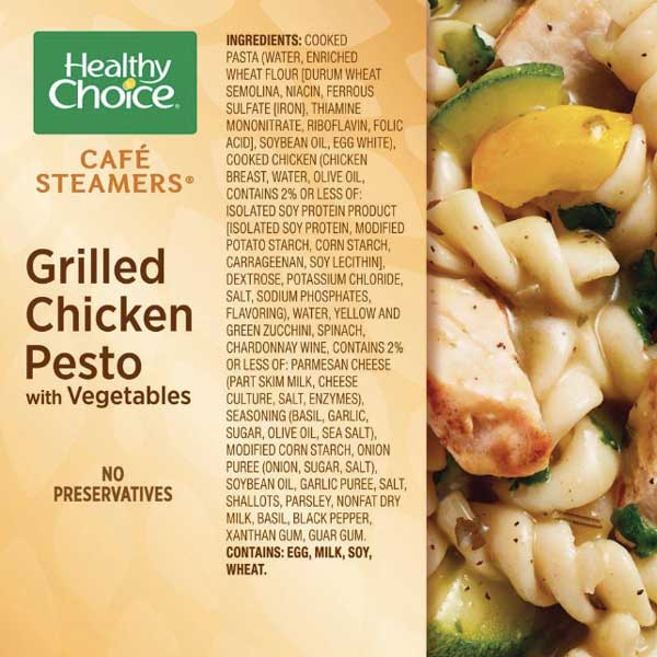 Healthy Choice Grilled Chicken Pesto with Vegetables, 9.9 oz - Water Butlers