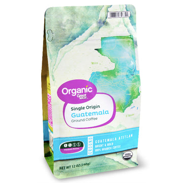 Great Value Organic Guatemalan Ground Coffee, 12 oz