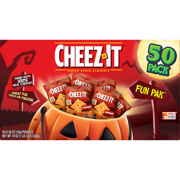 Cheez-It, Baked Snack Cheese Crackers, Original Fun Pak, 50 Count