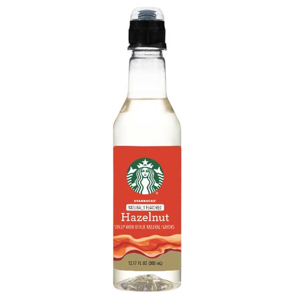 Starbucks Hazelnut Coffee Syrup Bottle 12.17 fl. oz - Water Butlers