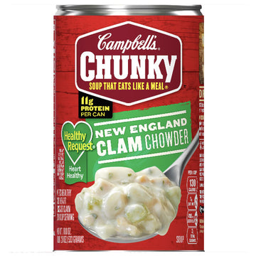 Campbell's Chunky Soup, Healthy Request New England Clam Chowder, 18.8 oz