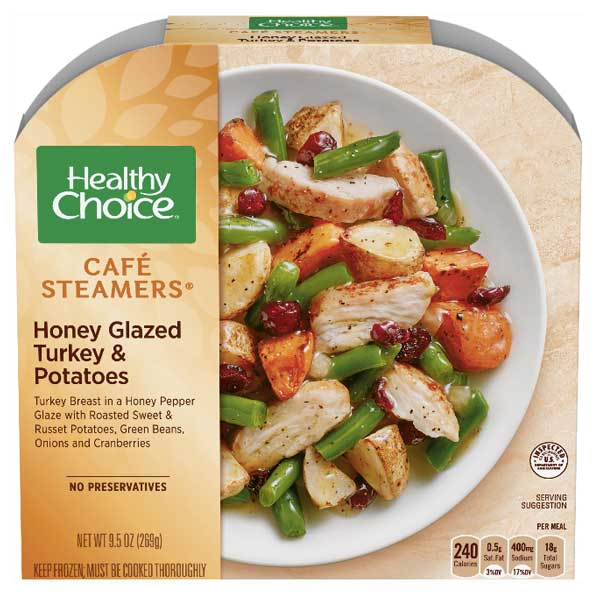 Healthy Choice Honey Glazed Turkey & Potatoes, 9.5 oz - Water Butlers