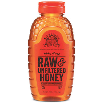Nature Nate's 100% Pure Raw & Unfiltered Honey, 16 oz