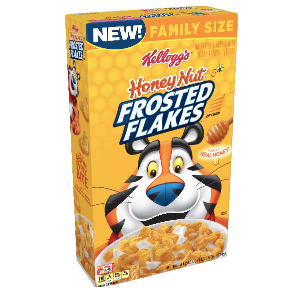 Kellogg's Honey Nut Frosted Flakes Family Size 24.5 oz - Water Butlers
