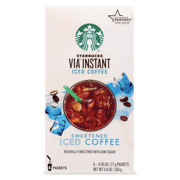 Starbucks VIA Instant Sweetened Iced Coffee, 6 Count