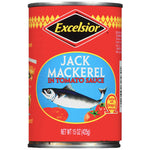 Excelsior Jack Mackerel in Tomato Sauce, 15 oz - Water Butlers