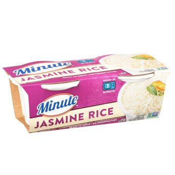 Minute Microwaveable Jasmine Rice 8.8oz, 2 Ct