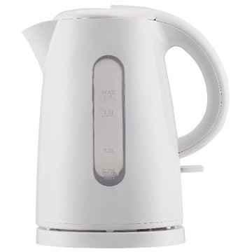 Mainstays 1.7-Liter Plastic Electric Kettle, White