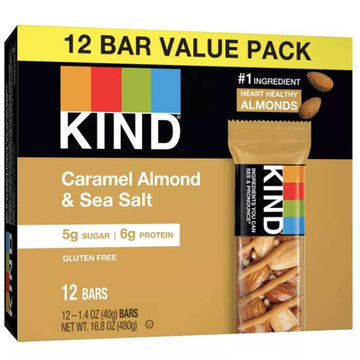KIND Protein Bars, Caramel Almond & Sea Salt, 12 Ct