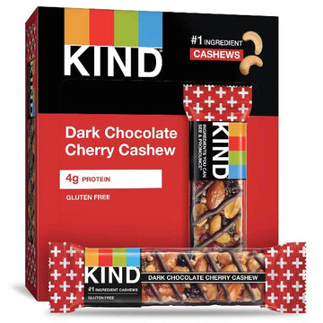 KIND Protein Bars, Dark Chocolate Cherry Cashew, 12 Ct