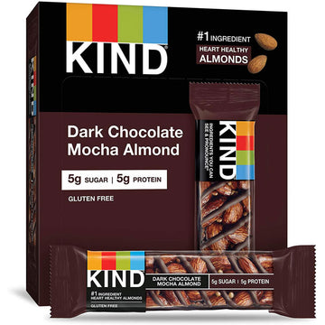 KIND Bars, Dark Chocolate Mocha Almond, 6 Count