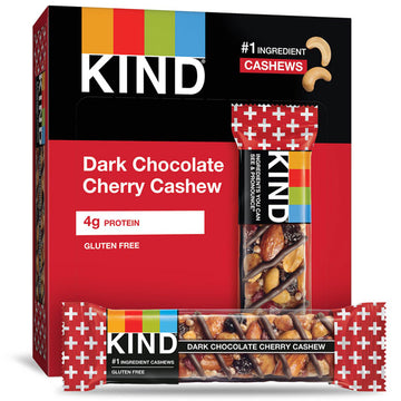 KIND Bars, Dark Chocolate Cherry Cashew, 6 Count