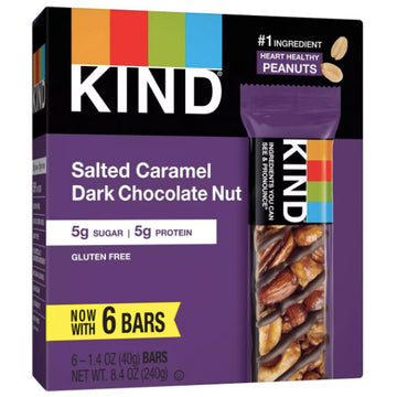KIND Bars, Salted Caramel & Dark Chocolate Nut, 6 Count