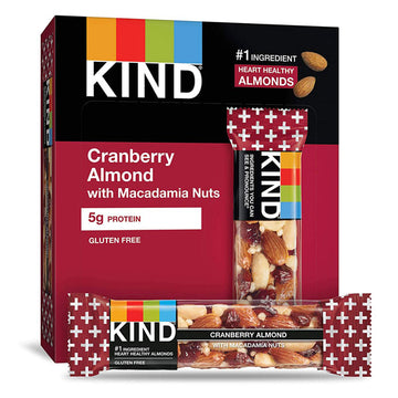 KIND Bars, Cranberry Almond & Antioxidants with Macadamia Nuts, 6 Count