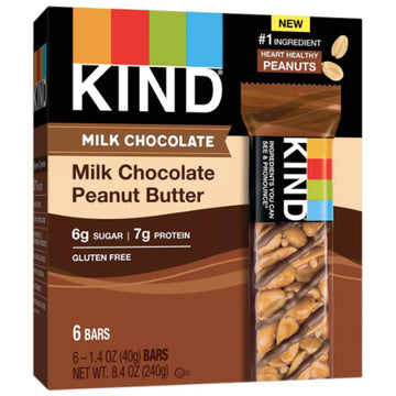 KIND Bars, Milk Chocolate Peanut Butter, 6 Count