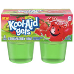 Jell-o Kool-Aid Gels Strawberry Kiwi, 3.5 oz, 4 Count - Water Butlers