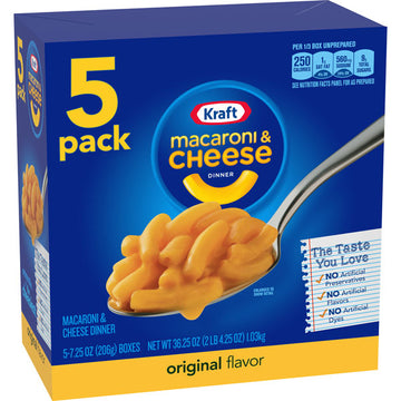 Kraft Original Flavor Mac and Cheese, 5 Count