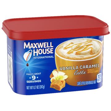 Maxwell House Vanilla Caramel Latte Cafe Mix Coffee, 8.7 oz