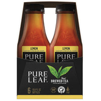 Pure Leaf Lemon Real Brewed Tea, 16.9 fl oz, 6 Ct - Water Butlers
