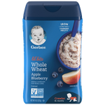 Gerber Single Baby Cereal, Whole Wheat Apple Blueberry - 8oz - Water Butlers