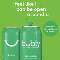 bubly Lime Sparkling Water 12 fl oz, 8 Ct - Water Butlers