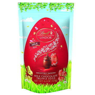 Lindt Lindor Milk Chocolate Easter Eggs, 4.4 oz.