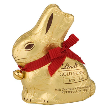 Lindt Easter Gold Bunny, Hollow Milk Chocolate Bunny, 3.5 Oz.