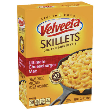 Velveeta Skillets Ultimate Cheeseburger Mac Dinner Kit, 12.8 oz