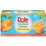 Dole Fruit Bowls, Mandarin Oranges, 12 Ct - Water Butlers