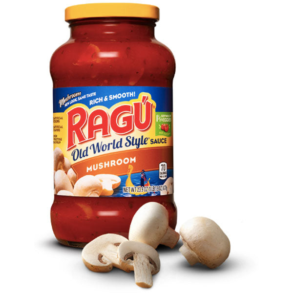 Ragú Old World Style Mushroom Sauce, 24 oz. - Water Butlers