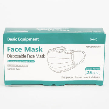 Disposable Face Masks, 25 Count