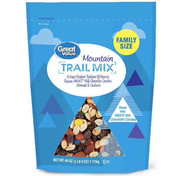Great Value Mountain Trail Mix, Family Size 40 Oz. - Water Butlers