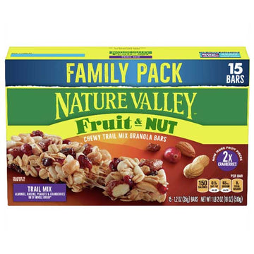 Nature Valley Granola Bars, Fruit & Nut, Trail Mix, 15 Ct