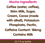 Dunkin' Donuts Iced Coffee, Mocha 13.7 fl - Water Butlers