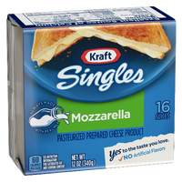 Kraft Singles Mozzarella Cheese Slices, 16 Ct - Water Butlers