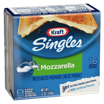 Kraft Singles Mozzarella Cheese Slices, 16 Ct