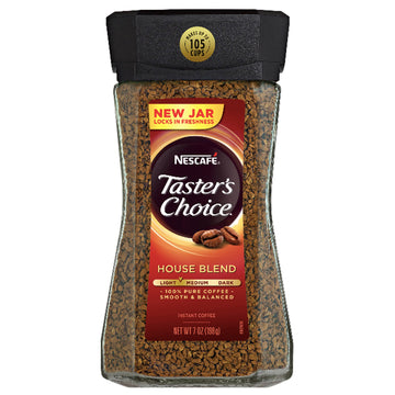 Nescafé Taster's Choice House Blend Medium Light Roast Coffee, 7 oz