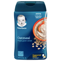 Gerber Single Baby Cereal, Oatmeal - 8oz - Water Butlers