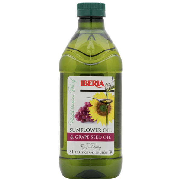 Iberia Sunflower Oil & Grape Seed Oil, 51 fl oz - Water Butlers