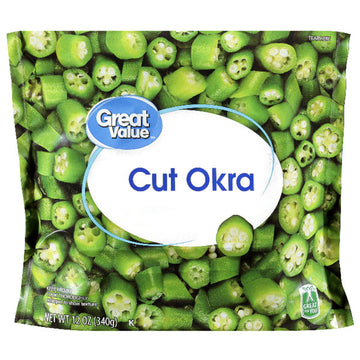 Great Value Cut Okra, 12 oz