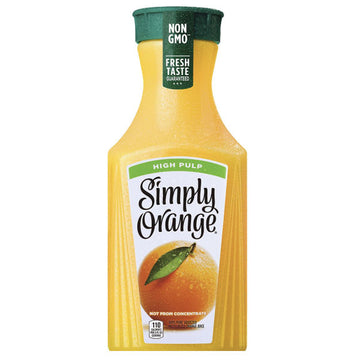 Simply Orange High Pulp Orange Juice, 52 fl Oz