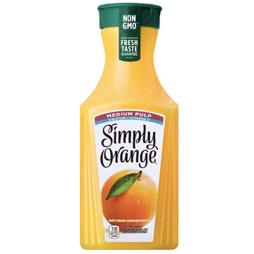 Simply Orange Medium Pulp Orange Juice, 52 fl Oz