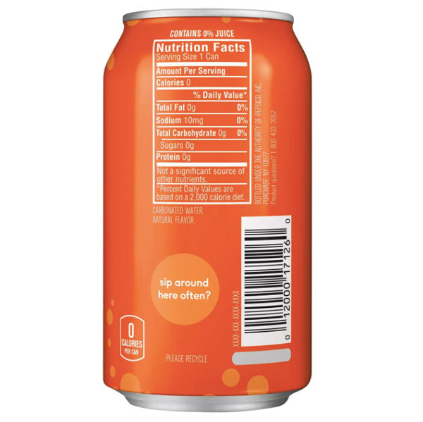 bubly Orange Sparkling Water 12 fl oz, 8 Ct - Water Butlers