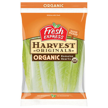 Organic Romaine Lettuce Hearts, Pack of 3
